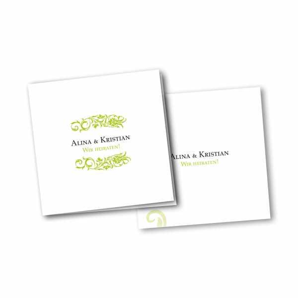 Einladungskarte – 4-Seiter quadratisch Kartendesign Verbundenheit