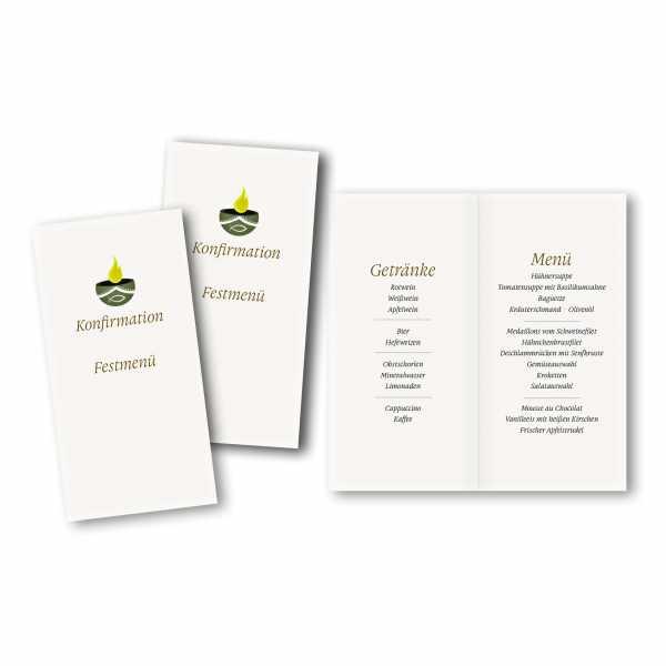Menükarte DIN-lang - Kartendesign Lena