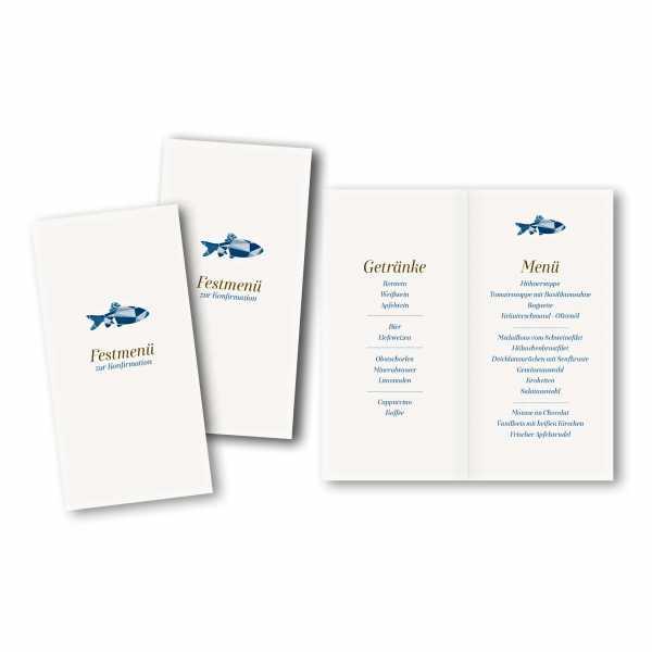 Menükarte DIN-lang - Kartendesign Tom