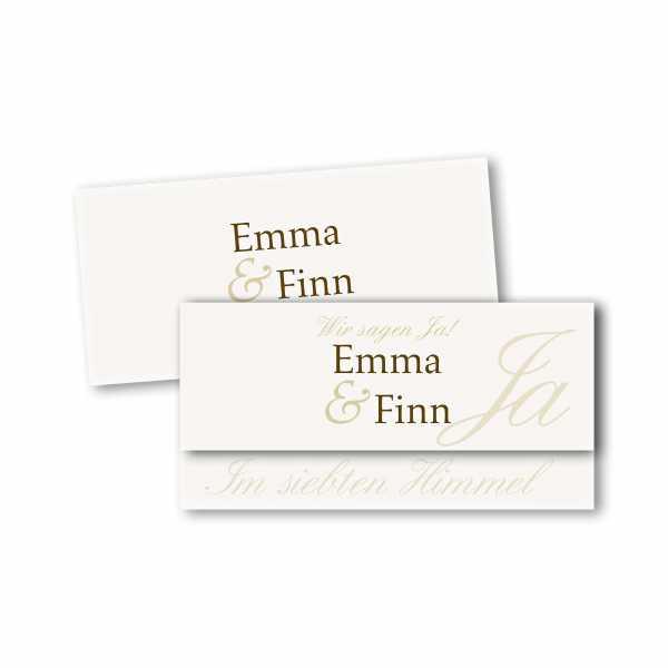 Einladungskarte – asymmetrische Klappkarte DIN-lang im Kartendesign Honeymoon
