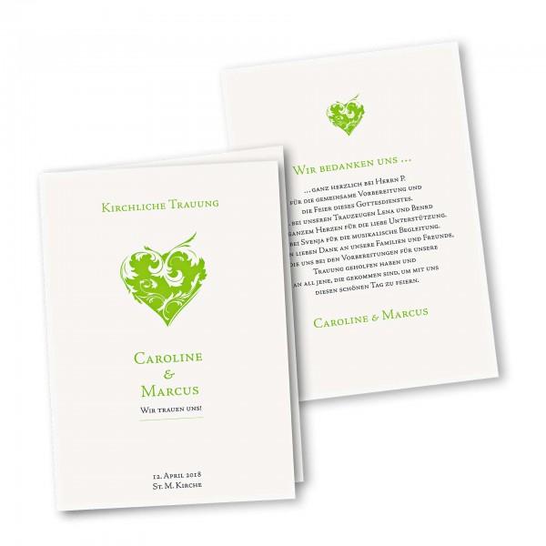 Kirchenheft 4 Seiter – Klappkarte DIN-A5 Kartendesign Traumhochzeit