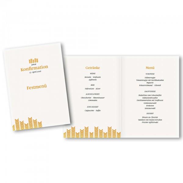 Menükarte DIN-A5 - Kartendesign Lea