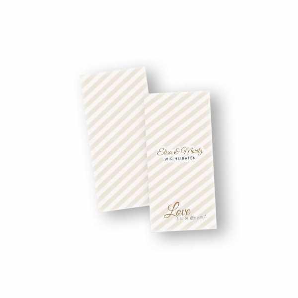Einladungskarten – Klappkarte – DIN-lang im Hochformat mit Kopffalz mit dem Design Eheglück