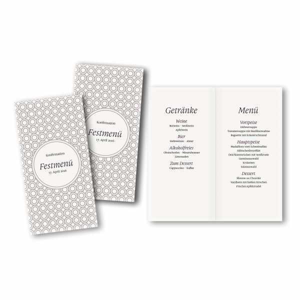 Menükarte DIN-lang - Kartendesign Niklas