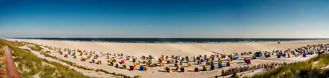Panoramafoto vom Juister Strand