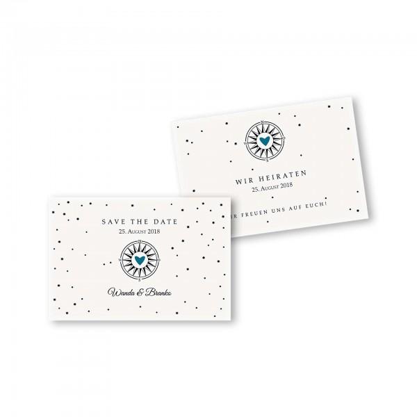Save the Date flache Karte mit Umschlag – 2-Seiter DIN-A6 Kartendesign Gefühlszauber