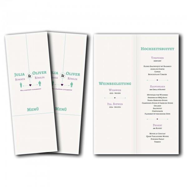 Menükarte – Kartendesign typografische Einladung Version 1