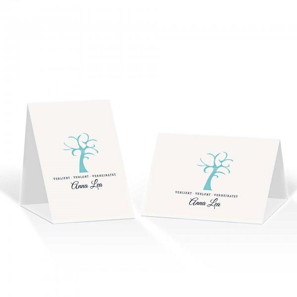 Platzkarte Aufsteller A6 – Kartendesign Verliebt Verlobt Verheiratet Version 2
