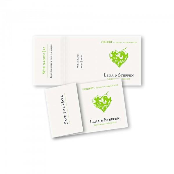 Save the Date Einklapperkarte – Klappkarte DIN-A6 Kartendesign Traumhochzeit