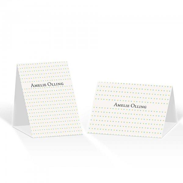 Platzkarte Aufsteller A6 – Kartendesign kleine Herzen Version 2
