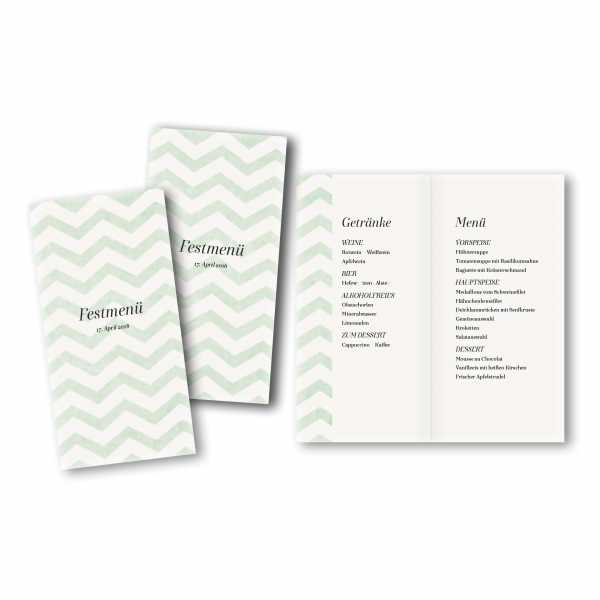 Menükarte DIN-lang - Kartendesign Moritz