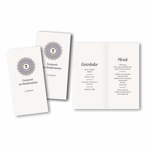 Menükarte DIN-lang - Kartendesign Sarah