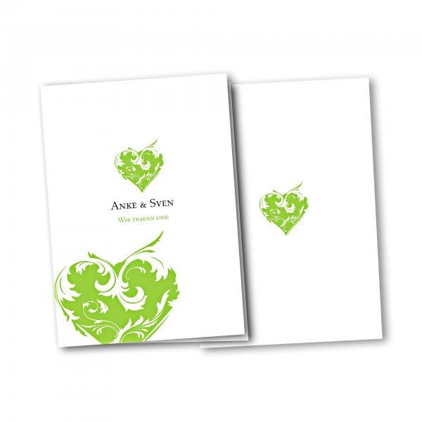 Einladungskarte – 4-Seiter DIN-A5 Kartendesign Traumhochzeit