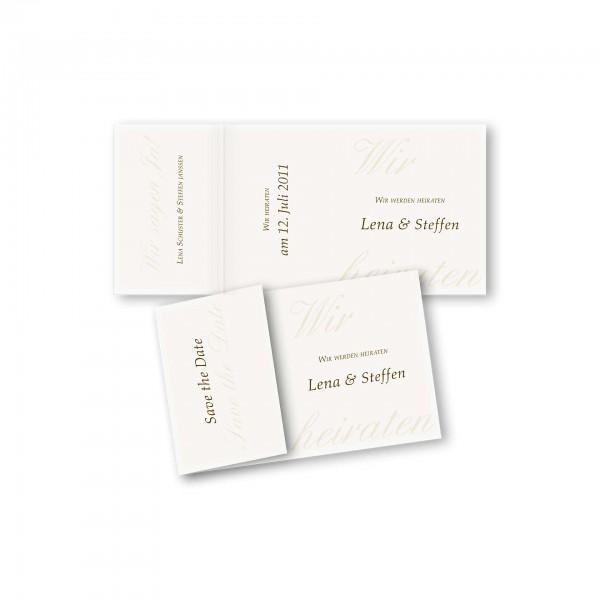 Save the Date Einklapperkarte – Klappkarte DIN-A6 Kartendesign Honeymoon
