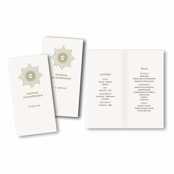 Menükarte DIN-lang - Kartendesign Ben
