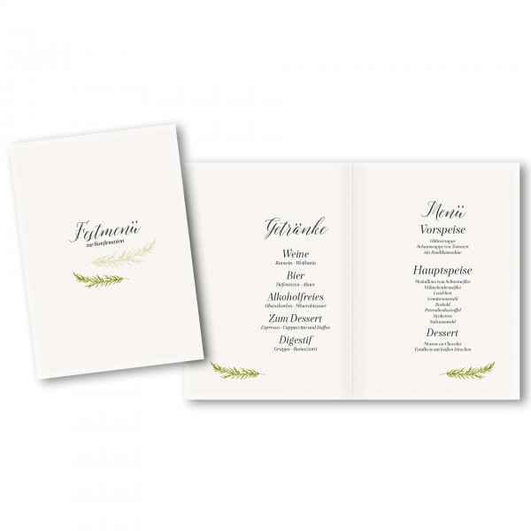 Menükarte DIN-A5 - Kartendesign Lina
