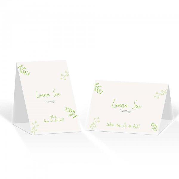 Platzkarte Aufsteller A6 – Kartendesign Retro Hochzeit Version 2