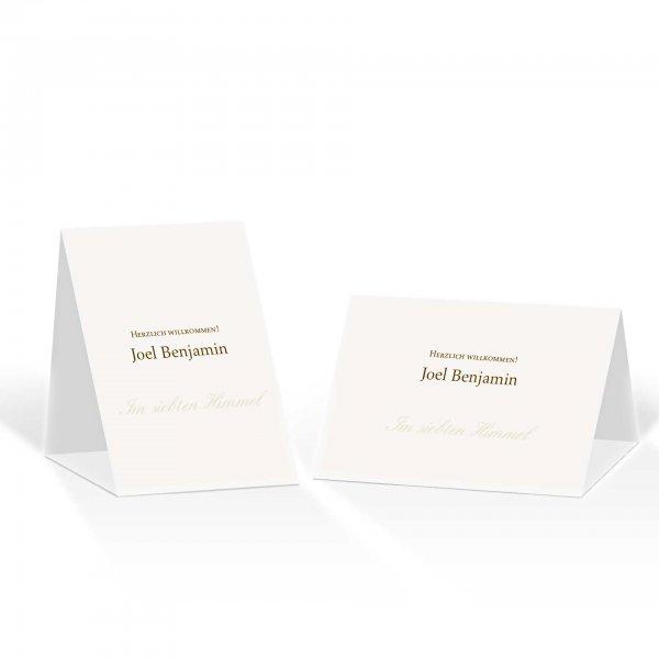 Platzkarte Aufsteller A6 – Kartendesign Honeymoon