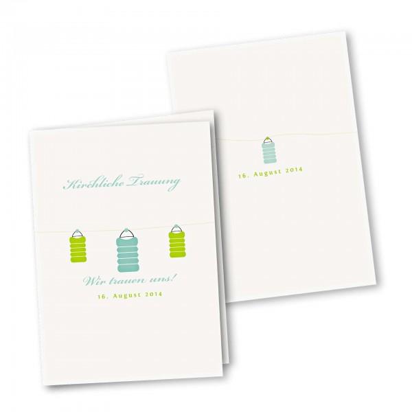 Kirchenheft 4 Seiter – Klappkarte DIN-A5 Kartendesign Lichterzauber Version 4