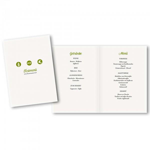 Menükarte DIN-A5 - Kartendesign Jonas