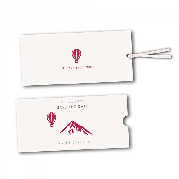 Schuberkarte - Kartendesign Hochzeitsfeier in den Bergen Version 4