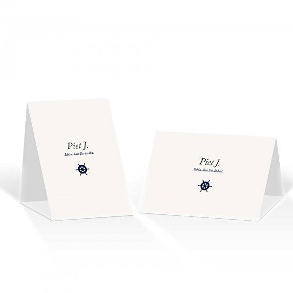 Platzkarte Aufsteller A6 – Kartendesign Kleines Steuerrad zur Hochzeit