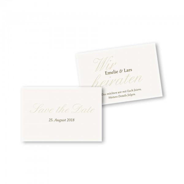 Save the Date flache Karte mit Umschlag – 2-Seiter DIN-A6 Kartendesign Honeymoon