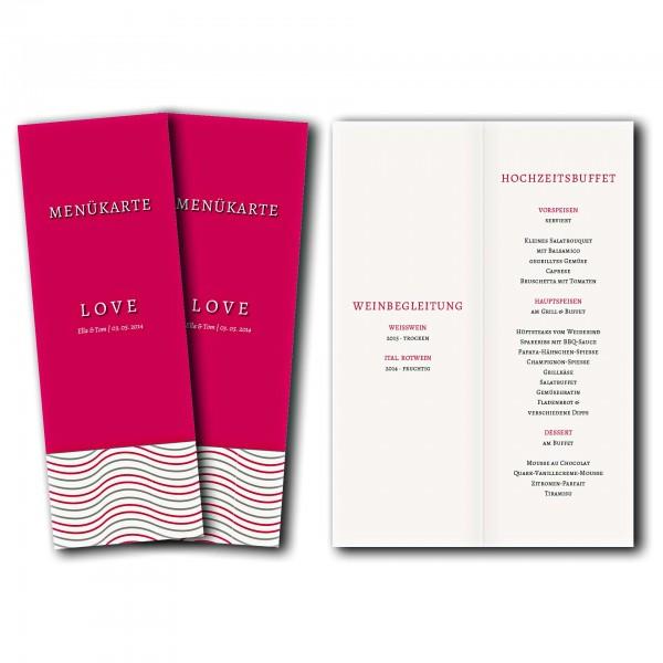 Menükarte – Kartendesign Love