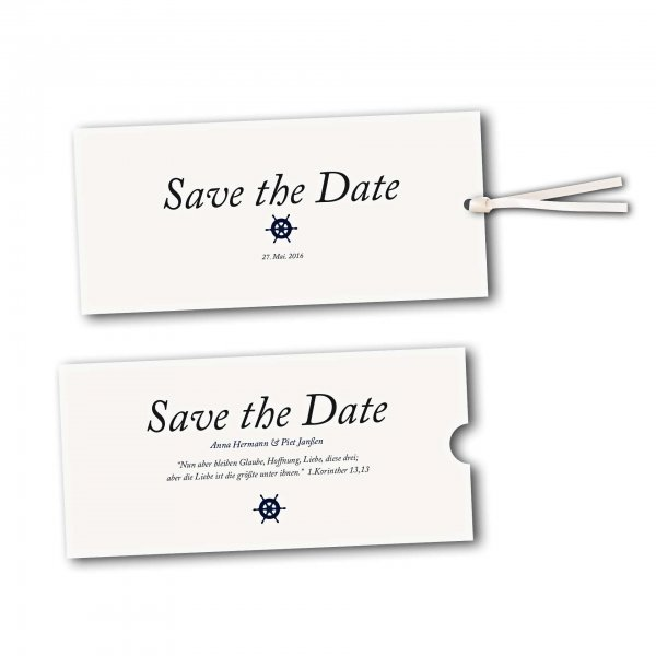 Schuberkarte - Kartendesign Kleines Steuerrad zur Hochzeit Version 2