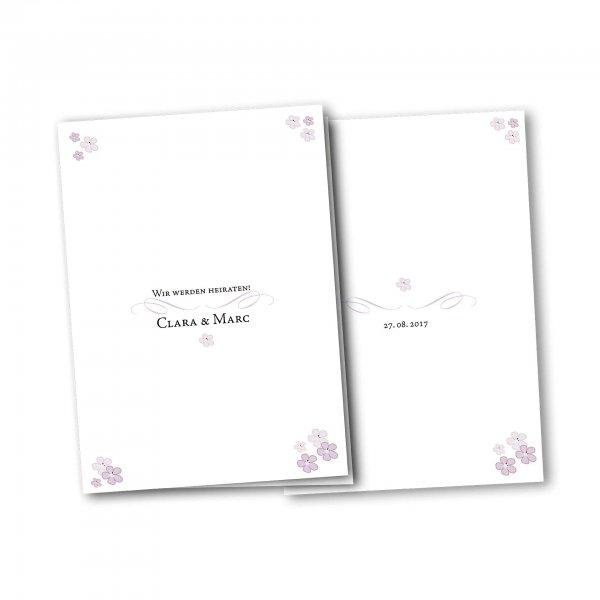 Einladungskarte – 4-Seiter DIN-A5 Kartendesign Blütenzauber