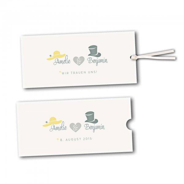 Schuberkarte - Kartendesign Dresscode Hochzeit