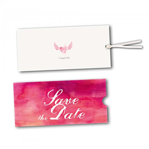 Schuberkarte - Kartendesign Hochzeitsherz mit Flügeln