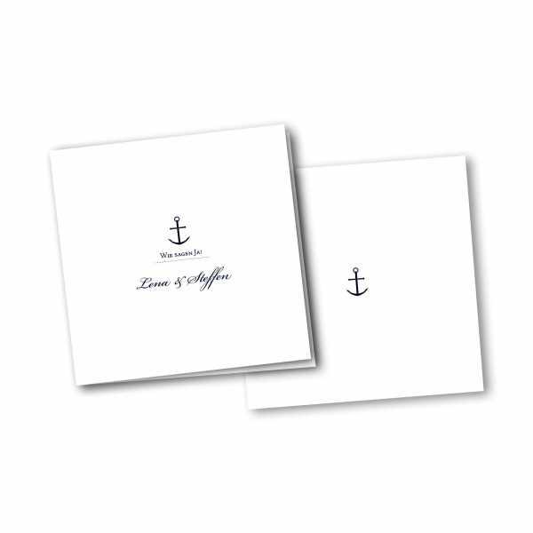 Einladungskarte – 4-Seiter quadratisch Kartendesign Maritim