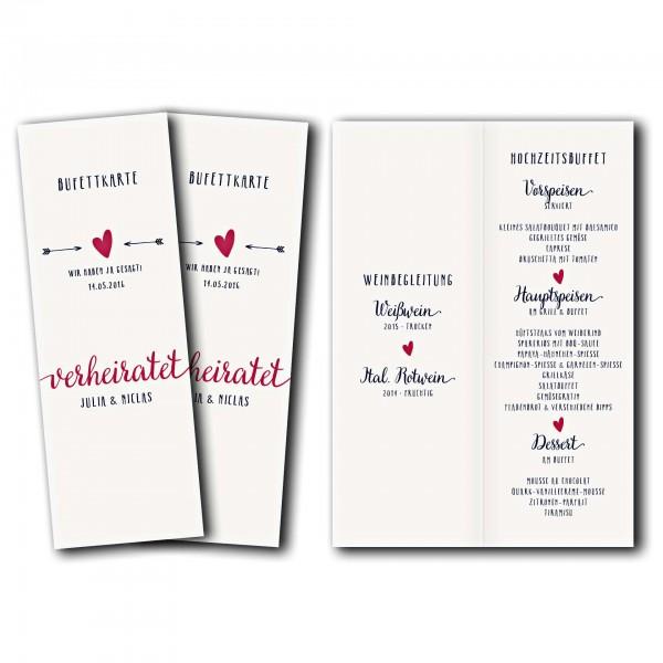 Menükarte – Kartendesign Amor trifft