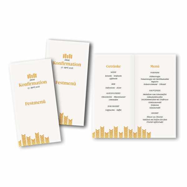 Menükarte DIN-lang - Kartendesign Lea