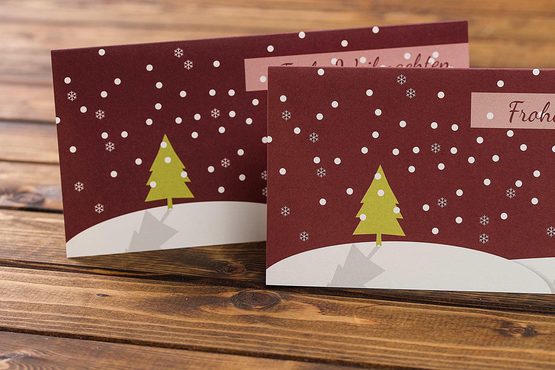 CHILIPFEFFERdesign Weihnachtskarte mit Schneelandschaft