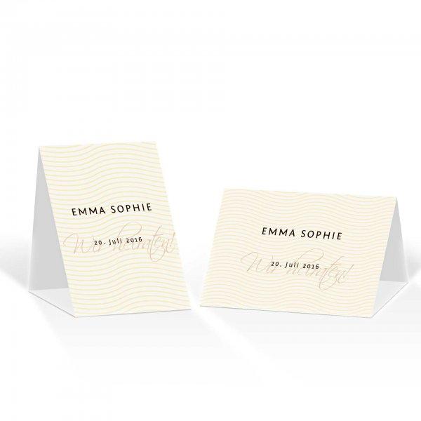 Platzkarte Aufsteller A6 – Kartendesign Liebeslinien