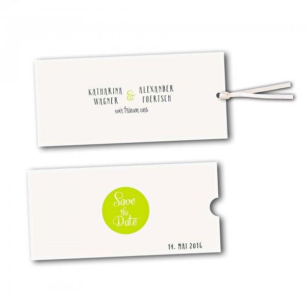 Schuberkarte - Kartendesign Reduzierte Hochzeitskarte mit Kreis