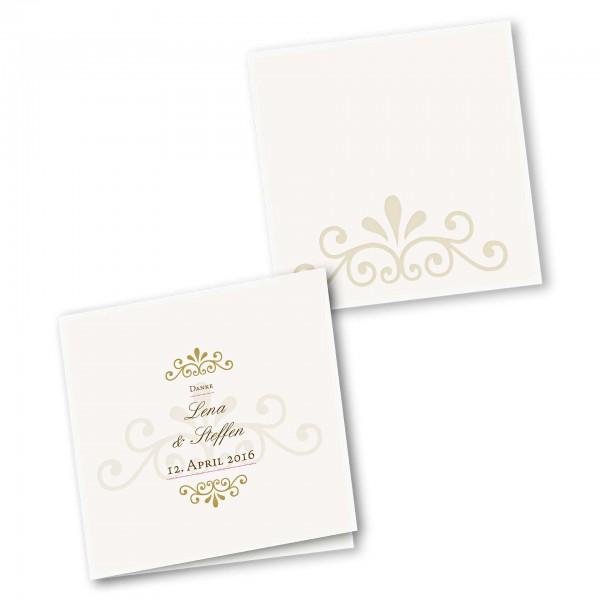 Danksagungskarte – 4-Seiter quadratisch Kartendesign Princess