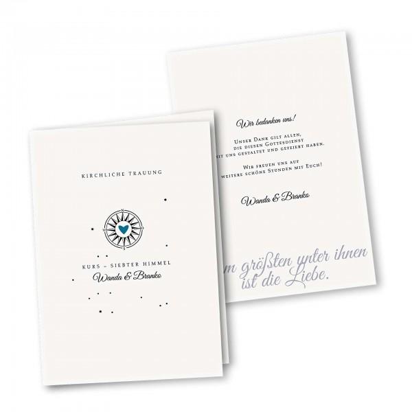 Kirchenheft 4 Seiter – Klappkarte DIN-A5 Kartendesign Gefühlszauber