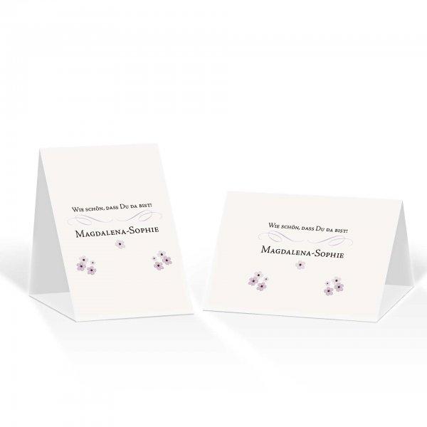 Platzkarte Aufsteller A6 – Kartendesign Bluetenzauber