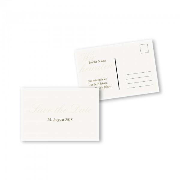 Save the Date Postkarte – 2-Seiter DIN-A6 Kartendesign Honeymoon