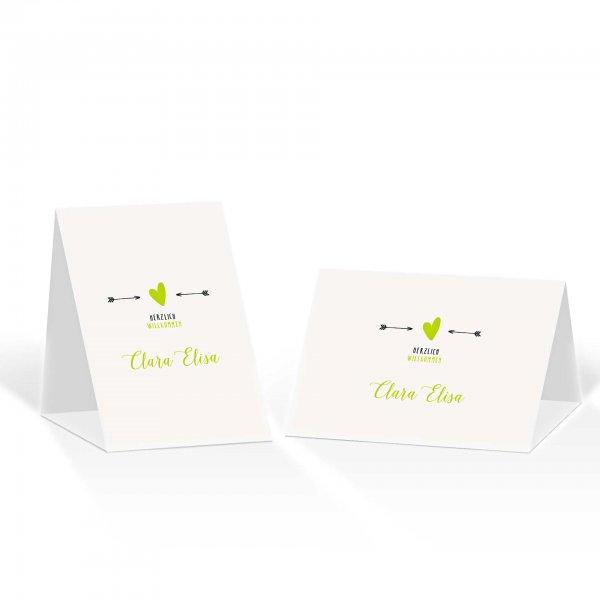 Platzkarte Aufsteller A6 – Kartendesign Amor trifft Version 2