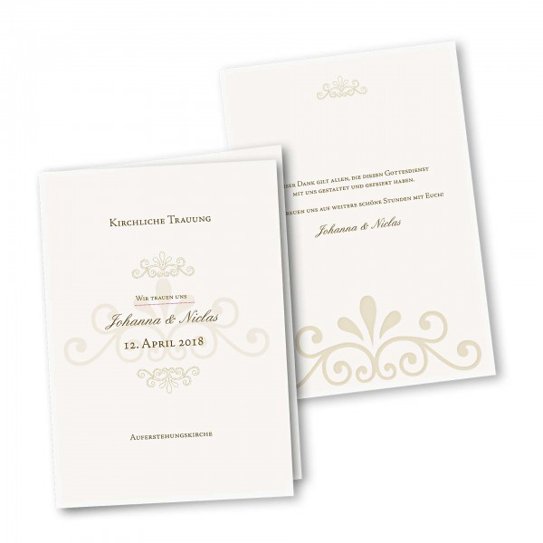Kirchenheft 4 Seiter – Klappkarte DIN-A5 Kartendesign Princess