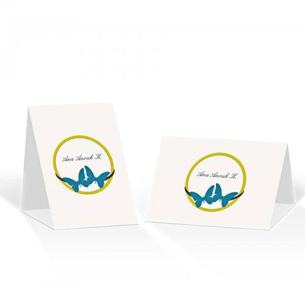 Platzkarte Aufsteller A6 – Kartendesign Schmetterlinge im Bauch