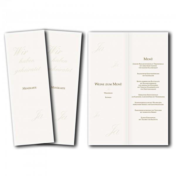 Menükarte – Kartendesign Honeymoon