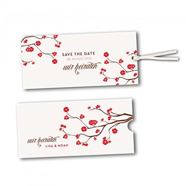 Schuberkarte - Kartendesign Baumblüte