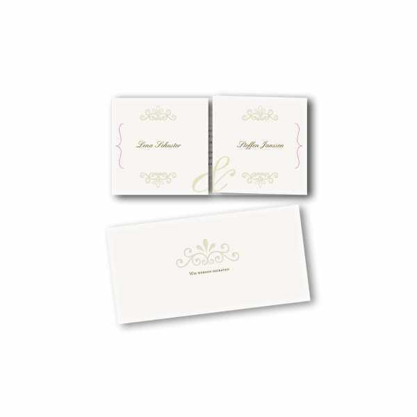 Einladungskarte – Altarfalzkarte DIN-lang im Kartendesign Princess