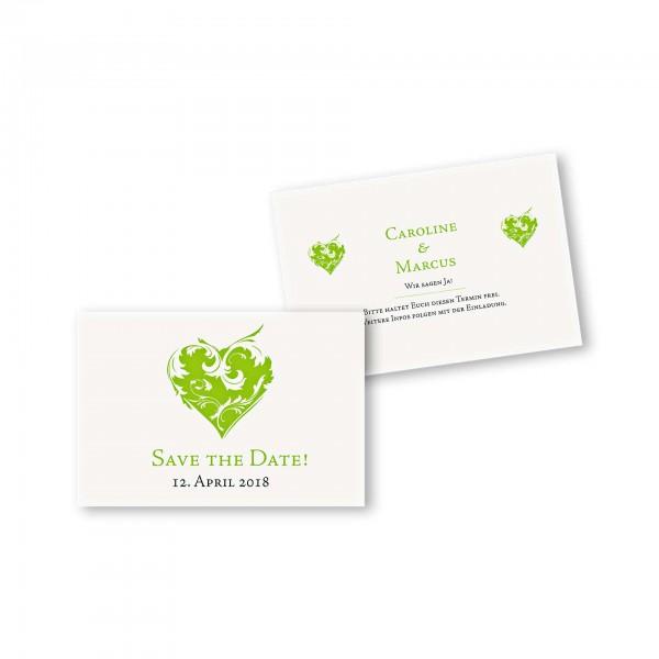 Save the Date flache Karte mit Umschlag – 2-Seiter DIN-A6 Kartendesign Traumhochzeit