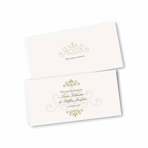 Einladungskarte – 4-Seiter DIN-lang Querformat Kopffalz Kartendesign Princess